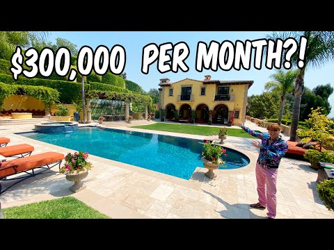THIS MANSION IS $300,000 PER MONTH TO RENT!!
