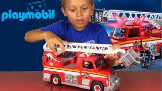 PlayMobil City Action Rescue Ladder Unit Toy Review