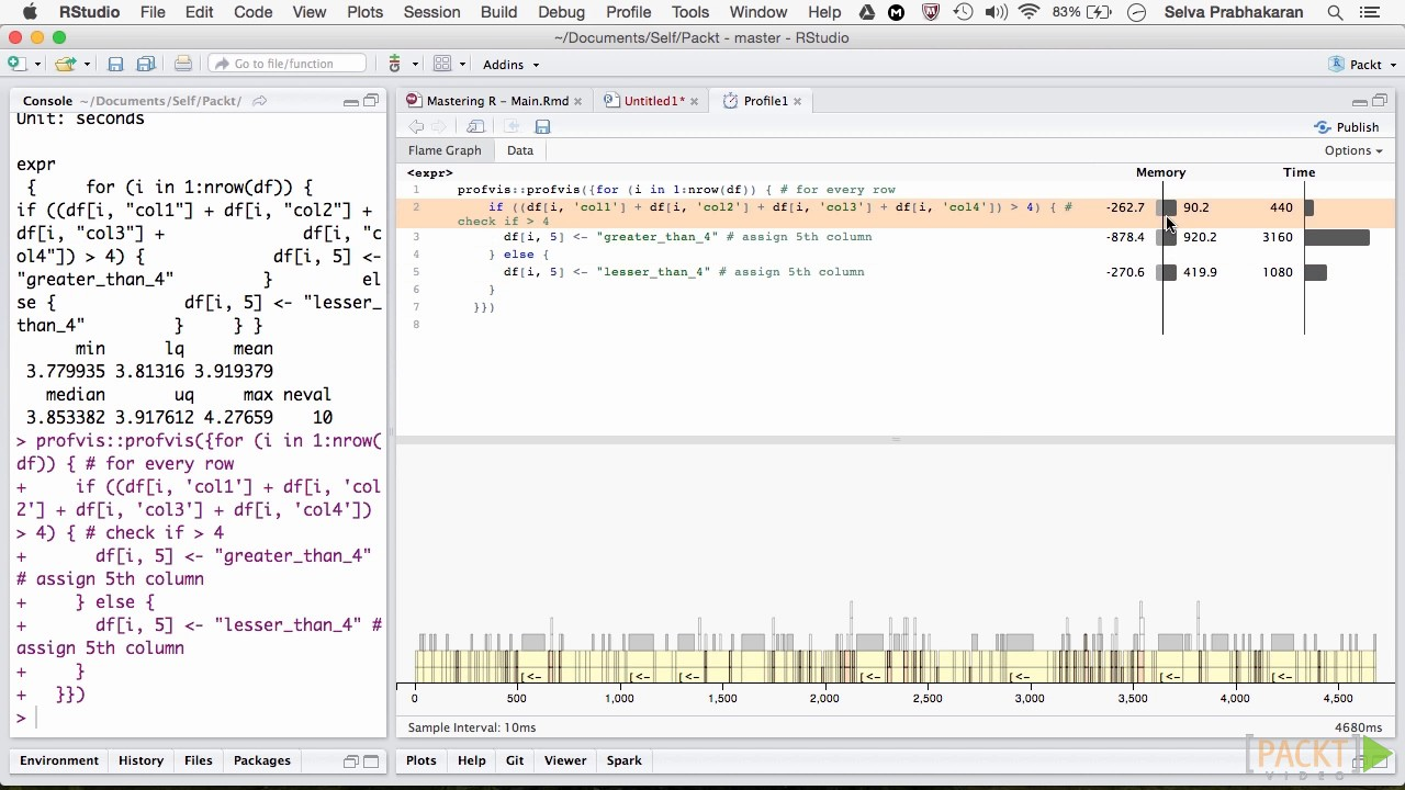 how to write code in r