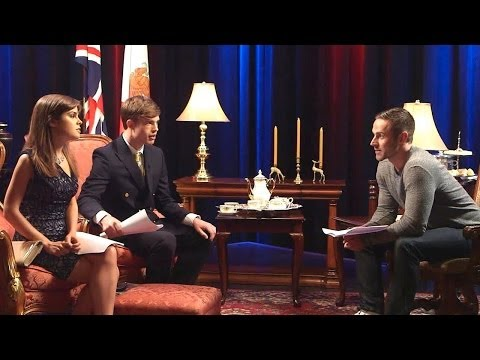 Orphan Black's DYLAN BRUCE Give Soap Opera Acting Lesson to British Royal Siblings