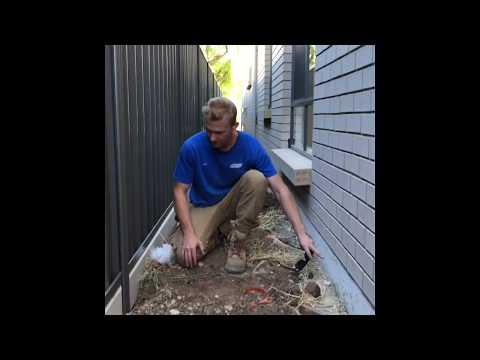 How To Install An Under Fence Plinth Or Sleeper - Gorilla Wall Sydney