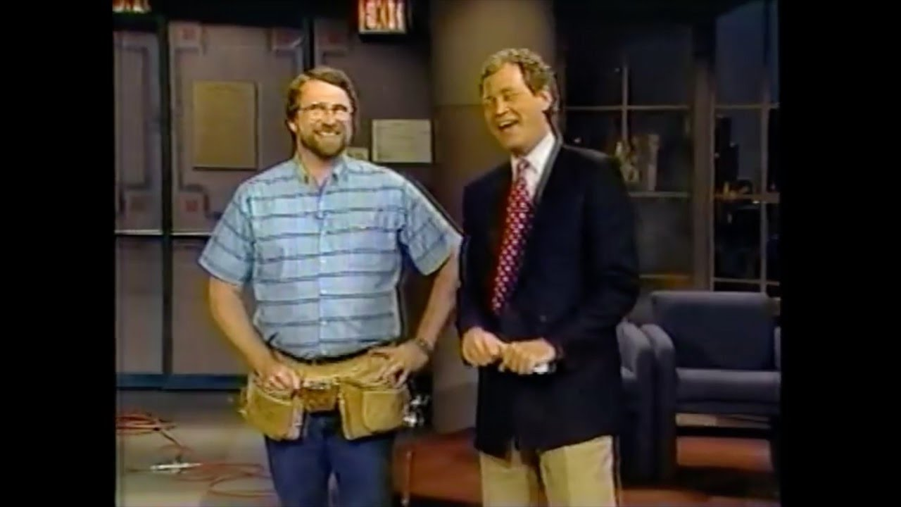 norm almost builds a picnic table on the david letterman show youtube. Black Bedroom Furniture Sets. Home Design Ideas