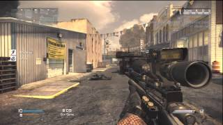 COD Ghosts: Gun Game on Warhawk Multiplayer  *SICK Throwing Knife ACROSS MAP FOR GWK