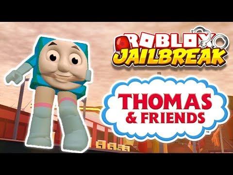Roblox Jailbreak THOMAS THE TRAIN MORPH!! | Noclip Cop Hackers Banned!? | 🔴 Roblox Live