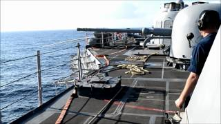 76 mm Oto Melara Cannon and CIWS Live Fire