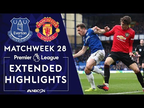 Everton V Man United   PREMIER LEAGUE HIGHLIGHTS   3/1/2020   NBC Sports