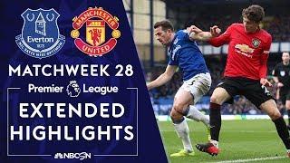 Everton v Man United | PREMIER LEAGUE HIGHLIGHTS | 3/1/2020 | NBC Sports