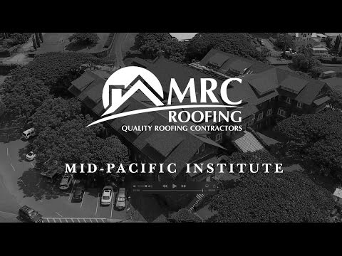 Mid-Pacific Institute Roof: Aerial view