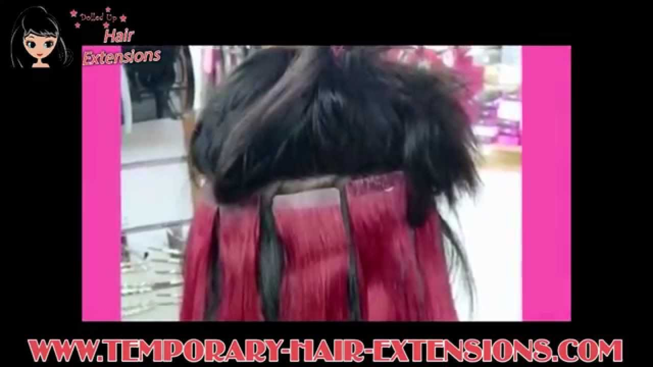How To Apply Invisible Tape Hair Extensions Youtube