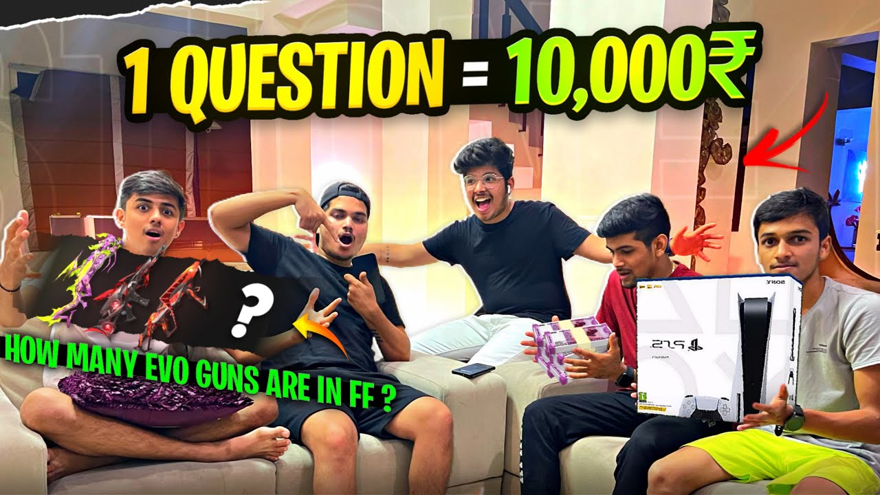 Free Fire Quiz Challenge With Guild Members    Win ₹1,000 For Right Answer -Garena Freefire