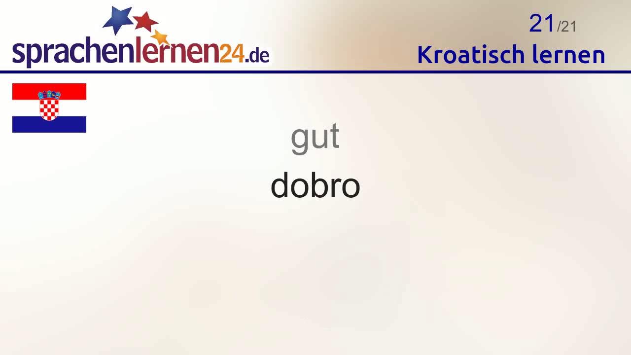 Kroatisch Lernen Teil 2