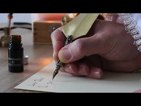 Writing with Feather Venetian Style