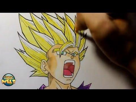 Wie zeichnet man Son Gohan SSJ2 [Dragonball Z]