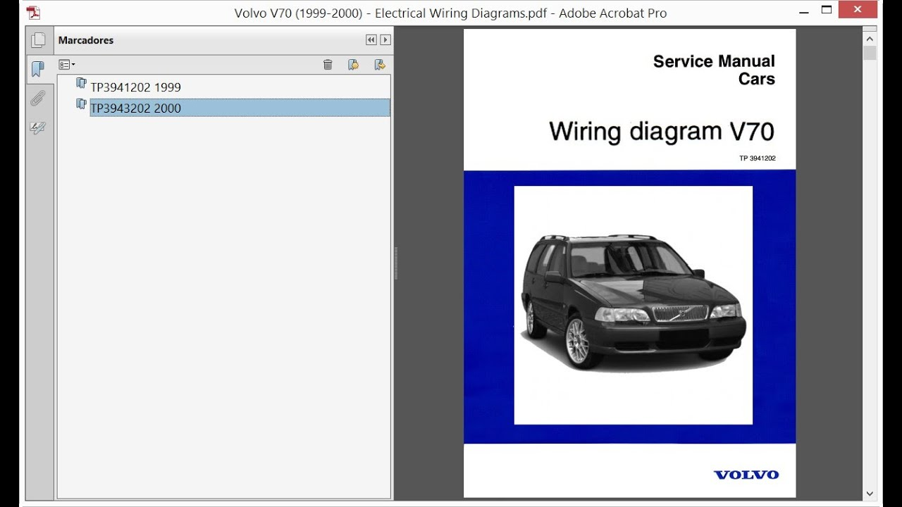 [SCHEMATICS_4LK]  Volvo V70 (1999-2000) - Electrical Wiring Diagrams - YouTube | 2000 Volvo S70 Wiring Diagram |  | YouTube