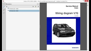 Volvo V70 (1999-2000) - Electrical Wiring Diagrams - YouTube | Volvo S70 Wiring Diagram Pdf |  | YouTube