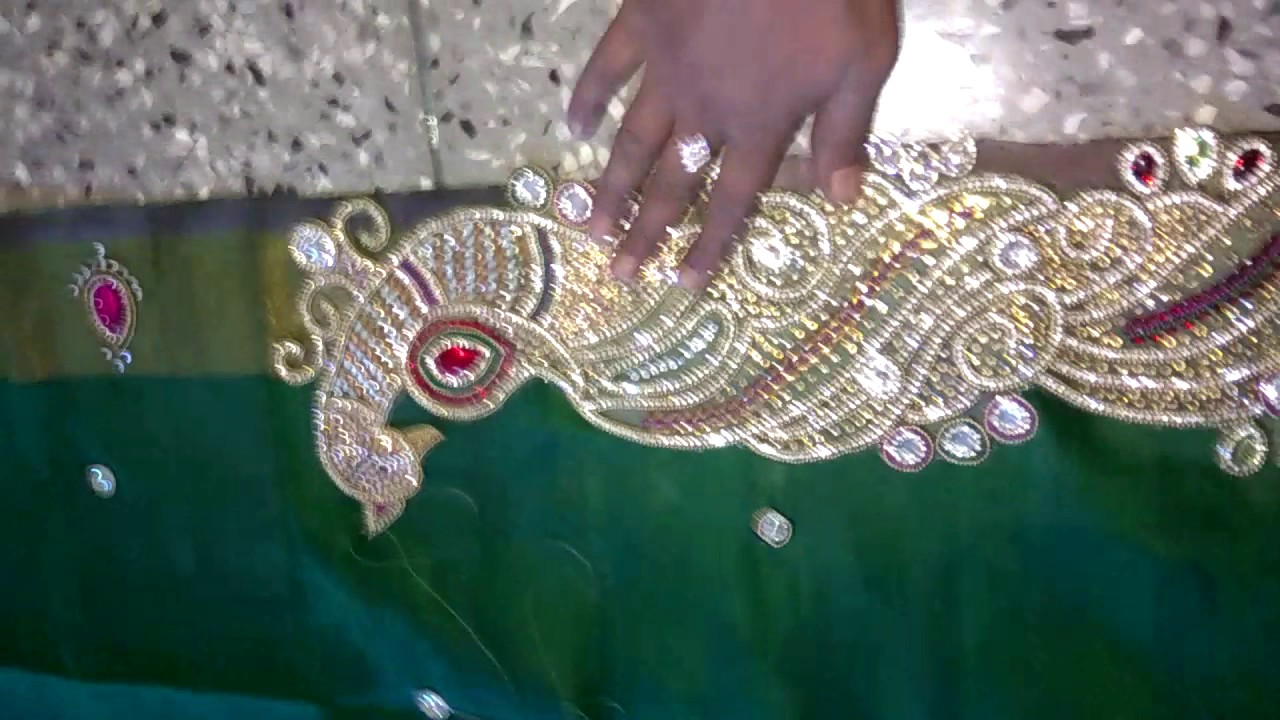 How To Design Saree In Kudans At Home In Simply Way Youtube