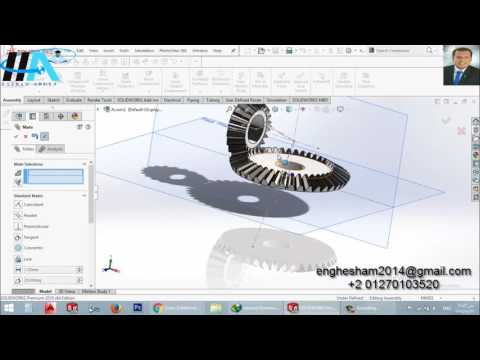 2- Solidworks Assembly || Bevel Gear Mate