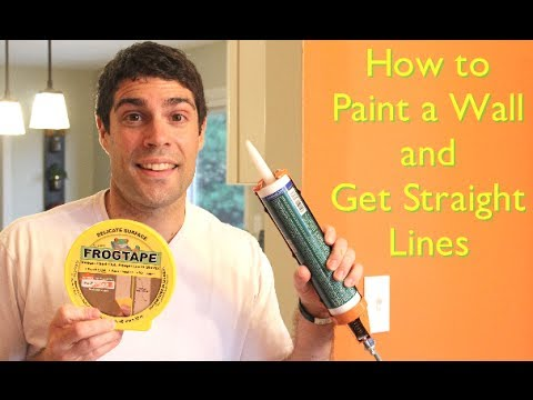 How To Paint A Wall And Get Straight Lines By Home Repair Tutor You