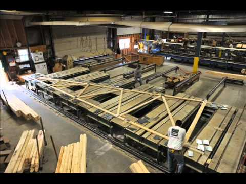 Bellevue Builders - Truss Manufacturing Time Lapse - YouTube