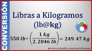 Convertir de Libras a Kilogramos (lb a kg)