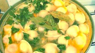Суп с пельменями и картошкой Дети обожают Мужья уважают быстрый видео рецепт