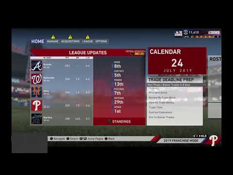 GAME 102 PHILADELPHIA PHILLIES AT DETROIT TIGERS THE MLB SEASON 3 2019