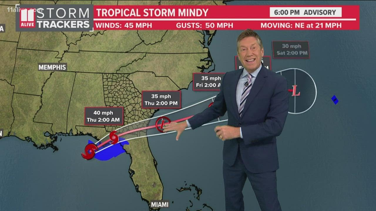 Tropical Storm Mindy forms in the northern Gulf of Mexico