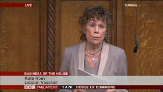 Kate Hoey MP at the Business of the House debate