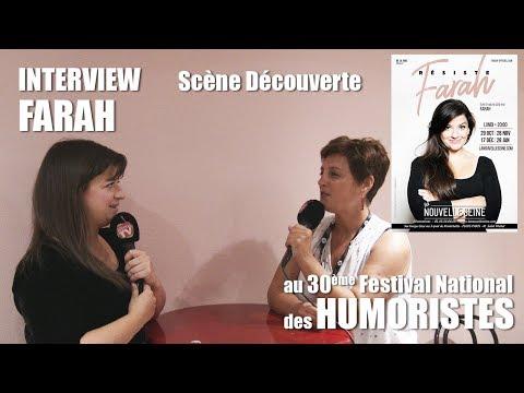 Les RDV Cultur'L Scène découverte avec FARAH   Festival des Humoristes 2018