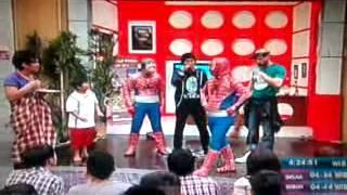 Spiderman Asli vs Spiderman Palsu @ WKS Waktunya Kita Sahur Trans TV 080912.mp4