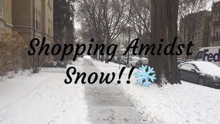 Shopping Amidst Snow | Sindhu's Kitchen Recipes | Snowy Evening | Winter Wonderland | White Holidays