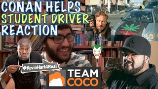 ICE CUBE, KEVIN HART AND CONAN HELP A STUDENT DRIVER REACTION
