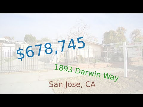 $678,745 San Jose home for sale on 2020-12-18 (1893 Darwin Way, CA, 95122)