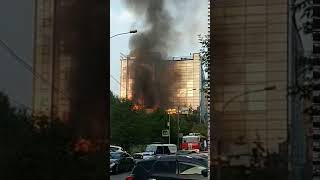пожар в Новосибирске 18 августа 2019 года
