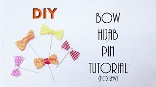 Easy No-Sew Ribbon Bow HIJAB PIN Tutorial| How to make HIJAB PIN (DIY Hijab Accessories #1)