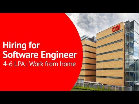 CGI Hiring for Software Engineer - Developer   4-6 LPA, BE / B.Tech / BCA / MCA