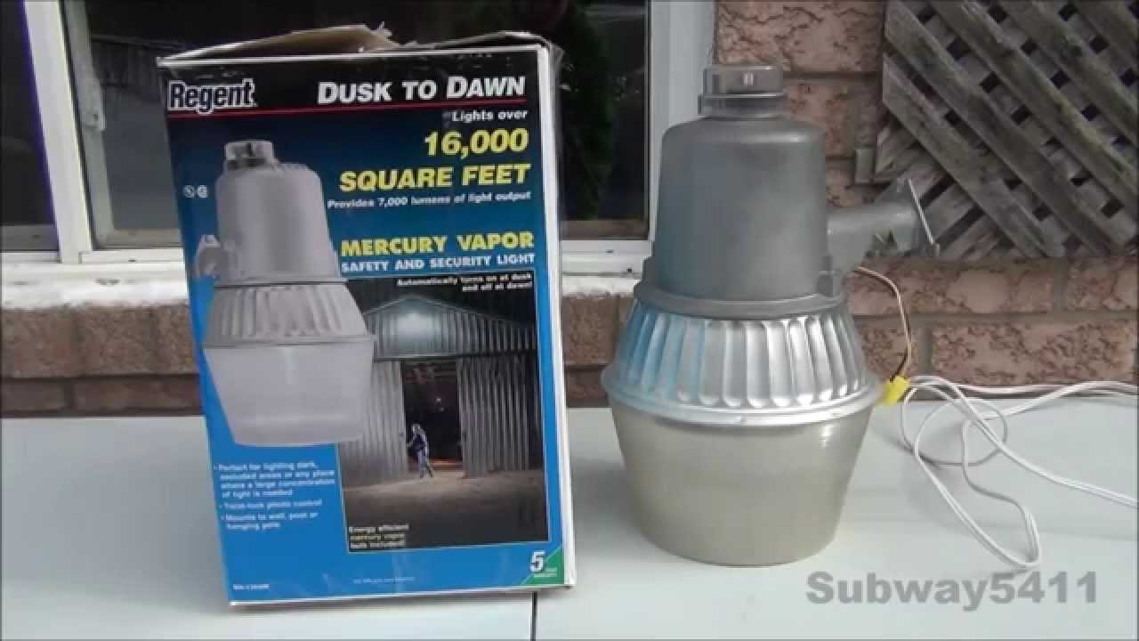 hight resolution of regent nh 1204m 175 watt mercury vapor security light old loud commentary youtube