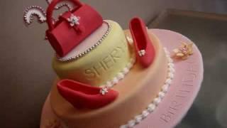 sheryl s 35th bday cake 5th fondant cake
