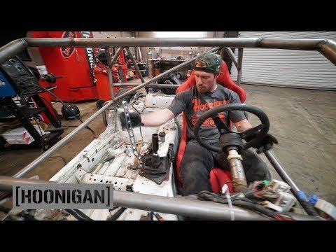 [HOONIGAN] DT 206: $200 Miata Kart Build [Part 9] - Hydro Handbrake And Race Seat Install