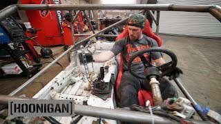 [HOONIGAN] DT 206: $200 Miata Kart Build [Part 9] - Hydro Handbrake and Race Seat Install thumbnail