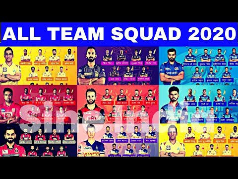 IPL 2020 All Team Final Squad   All Team Playing 11   All Team Players List