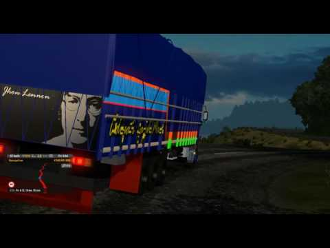 Hino 700 Threeball trip from Lahat to Pagar Alam (2) || ETS2