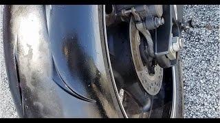 видео После падения на скорости 90 км/ч на мотоцикле viper v250vxr