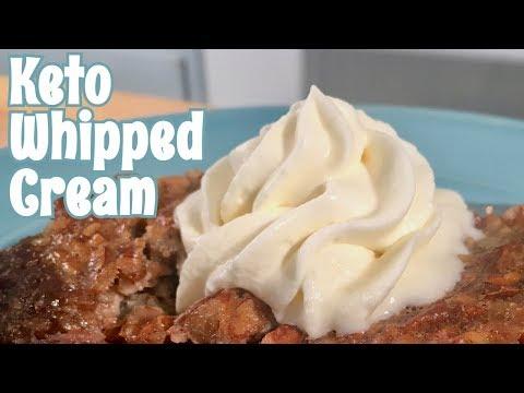 Keto Whipped Cream | ZERO CARB Keto Dessert Recipe