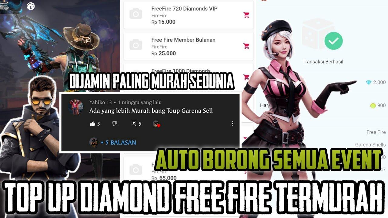 TOP UP DIAMOND FREE FIRE TERMURAH JUNI 2021 !!! RAHASIA RESELER DIAMOND FF YANG TIDAK KALIAN KETAHUI