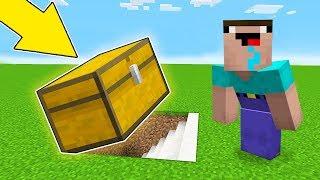 Minecraft Battle - NOOB vs PRO : HOW NOOB FOUND THIS SECRET BASE UNDER CHEST ?! (Animation)