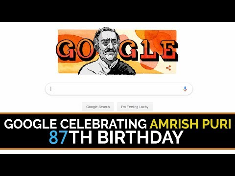 Google doodle Remembers Amrish Puri on his 87th Birth Anniversary  Face Kabza  Aaho !! Mp3