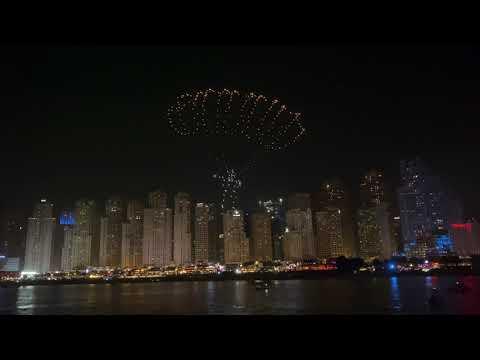 DRONE SHOW 2021 | DUBAI SHOPPING FESTIVAL | BLUE WATERS ISLAND DUBAI | #DSF2021 | 4K