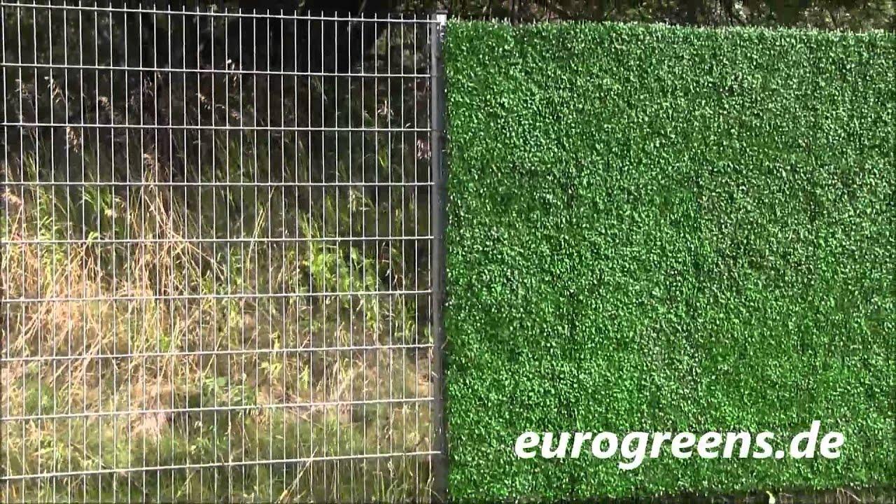 EuroGreens Kunstpflanzen Buchsbaumhecken Paneele