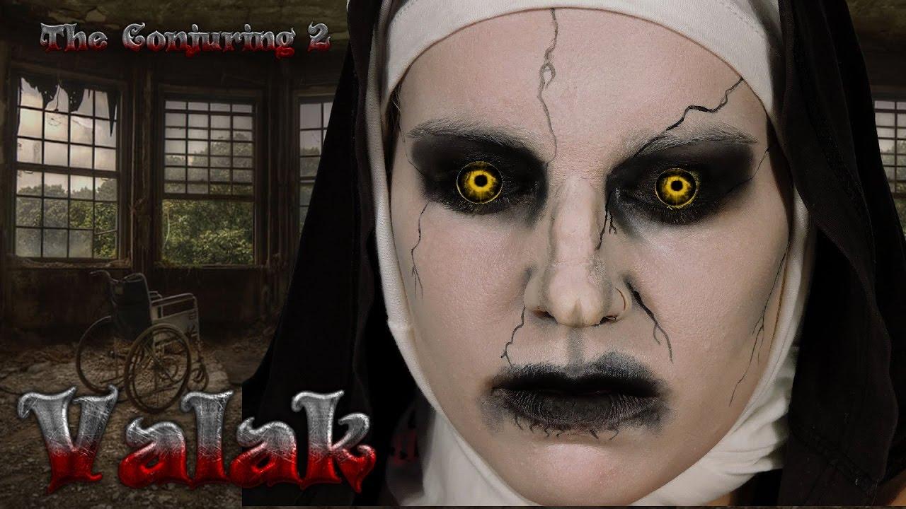 maquillage halloween valak
